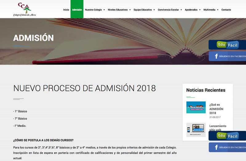 Colegio Colonos de Alerce - WDesign - Diseño Web Profesional